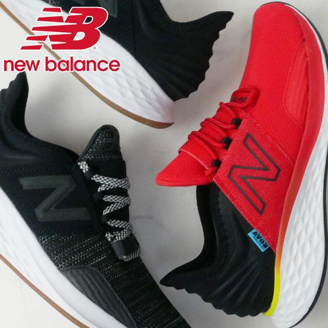 【あす楽】ニューバランス new balance スニーカー メンズ MROAV ワイズD ローカット ランニングシューズ ウォーキング ジョギング ブラック レッド evid