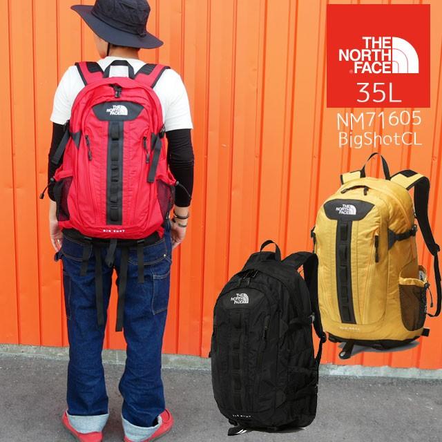 【あす楽】ザ・ノースフェイス THE NORTH FACE バッグ NM71950 メンズ レディース 35L ビッグショット リュック デイバッグ バックパック 黒 赤 黄 evid