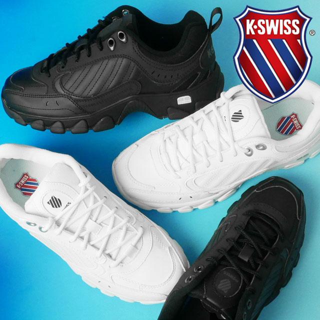 【あす楽】ケースイス K-SWISS HS329 スニーカー 【送料無料】(一部地域除く) メンズ 76354 ローカット 運動靴 ダッドシューズ ダッドスニーカー ホワイト ブラック evid