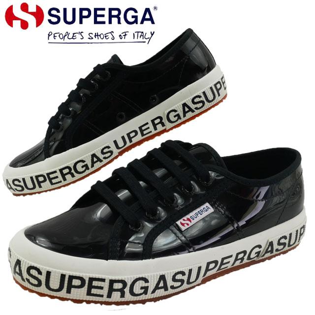 【送料無料】スペルガ SUPERGA スニーカー レディース 2750 COTTRANSPLETTERINGW ローカット カジュアルシューズ 靴 ブラック 黒 S00GT70 evid