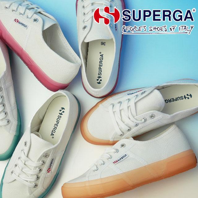 あす楽送料無料 スペルガ SUPERGA スニーカー レディース 2750 ジェリーガム コトゥ ローカット カジュアルシューズ クリアソール 靴 A04 ホワイト オレンジ A0A ホワイト ブルー A00 ホワイト ピンク S1113DW evid1Jcul3TFK