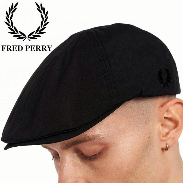 フレッドペリー 帽子 メンズ レディース FRED PERRY FLAT CAP 102 BLACK 2021 FW新作 あす楽 一部予約 p フラットキャップ ぼうし アクセサリー ベレー帽 evid HW2636 ブラック 送料無料 月桂樹 つば付き アパレル ※アウトレット品