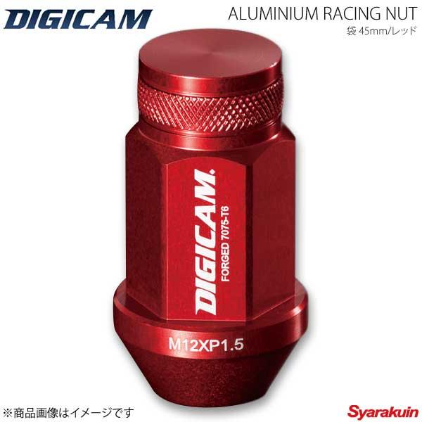 【楽天カード分割】 DIGICAM デジキャン アルミレーシングナット 袋タイプ P1.5 19HEX 45mm レッド 20本入 IS GSE2# H17/8~H25/4 AN6F4515RE-DC, 靴のナカムラ 074b7b0f