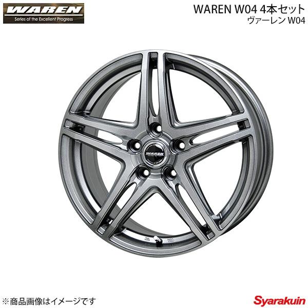 WAREN/ヴァーレン W04 ホイール 4本セット トレジア NCP125X ( 215/35R18 7.0J P.C.D100 5穴 INSET 48 ダークシルバー (DS) )