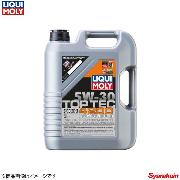 LIQUI MOLY リキモリ 4ストローク車用エンジンオイル トップテック4200 ロングライフ3 5W30 5リットル 20904 1本