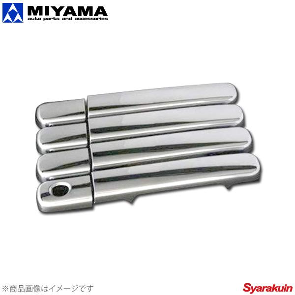 メッキ ドアノブカバー MIYAMA (インテリジェントキー3穴用) ランディ MIYAMA メッキ ドアノブカバー