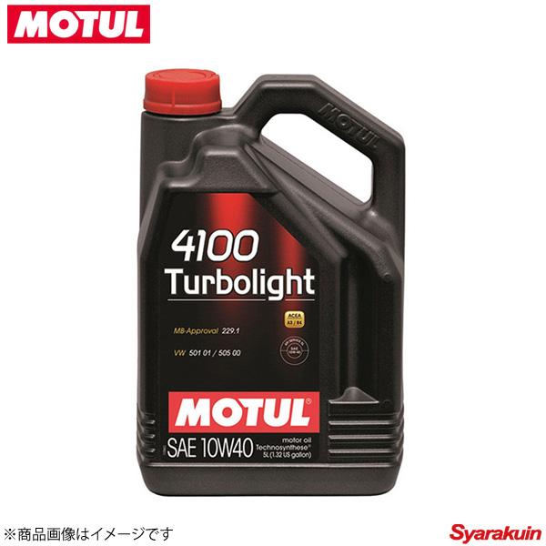 107720 ×4 MOTUL/モチュール 4輪エンジンオイル 4100 ターボライト 10W40 4×4L ガソリン/ディーゼル車用 ストリート系