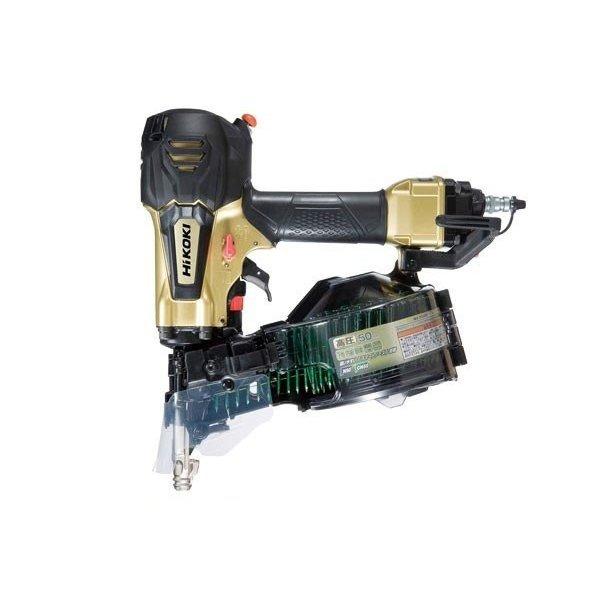 NV50HR-S 卓越 ハイコーキ 安心の実績 高価 買取 強化中 パワー切替機構付 メタリックゴールド 高圧ロール釘打機