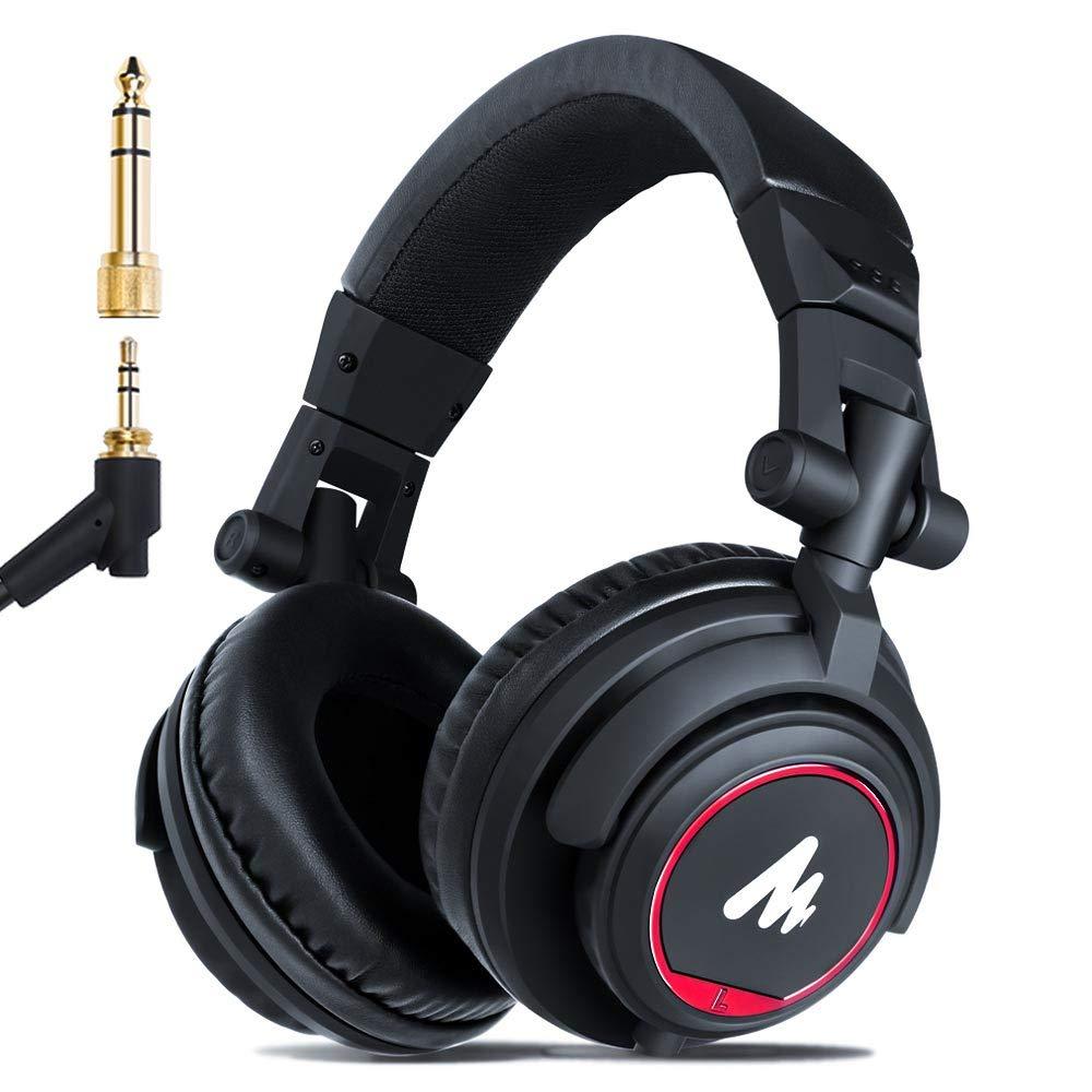 人気海外一番 MAONO 密閉型モニターヘッドホン ヘッドフォン 有線 オーバーイヤーヘッドフォン 遮音 折り畳み可能 3.5mm 6.35mmプラグ付き DJなどに対応可能 タブレット ミキシング 日本未発売 50mm径ドライバー搭載 AU-MH501 ノートパソコン メガホン スマホ PC