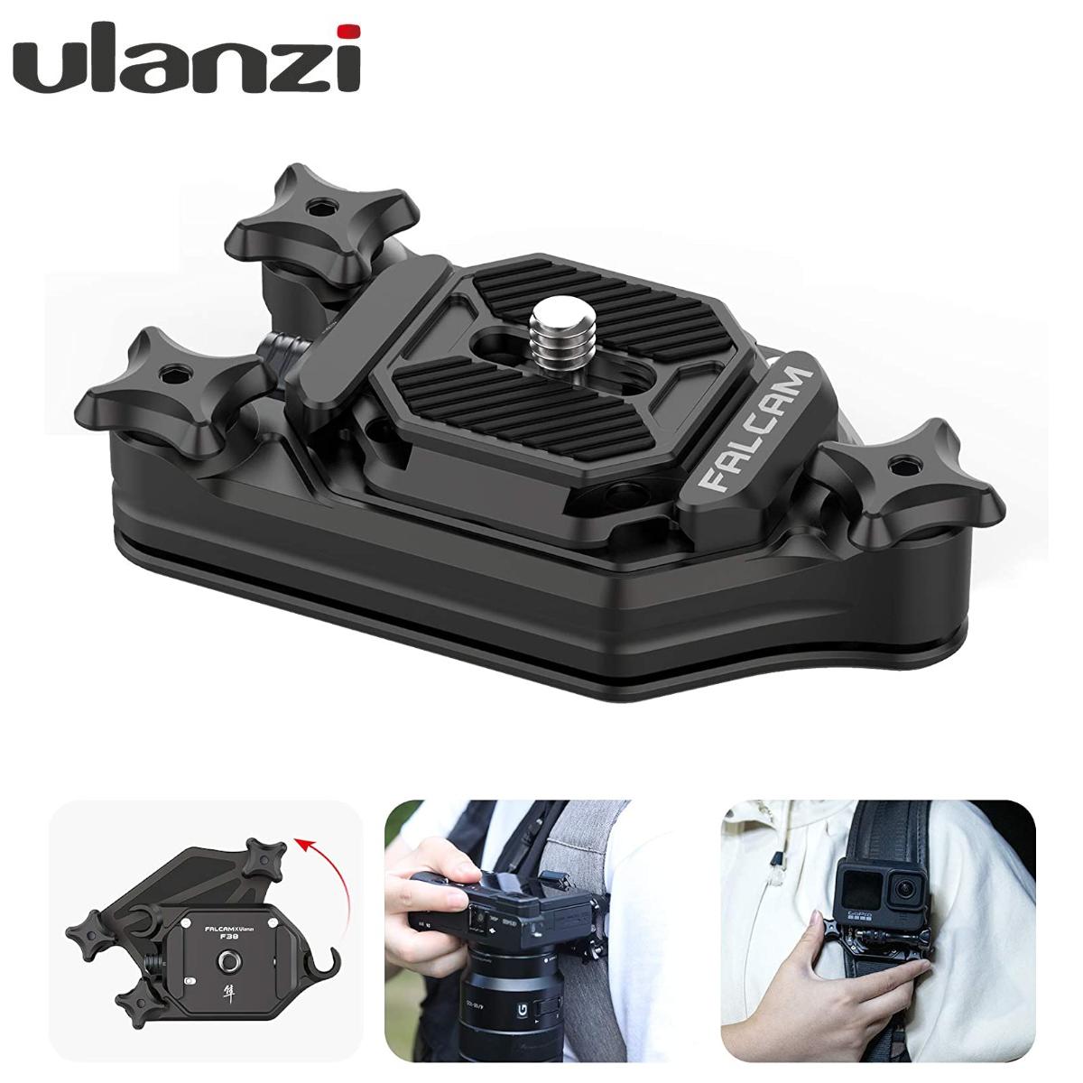 全国送料無料 即日発送 Ulanzi カメラホルスター カメラホルダー バックパッククリップ Arca-Swiss規格1 国内在庫 4ネジプレートクイックリリースクランプ 簡単脱着 ウエストクリップ 上質 リュッククリップ F38-3 SLR 一眼レフDSLR Digital ベルトクリップ アルミ合金製