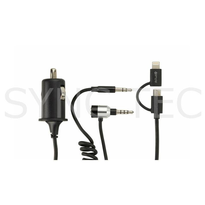 高額売筋 iSimple ISMJ3425 ipod iphone ライトニングコネクタ対応 Lightning マイクロ 64 ケーブル USB ファクトリーアウトレット オールインワン コネクター ismj3425 isimple