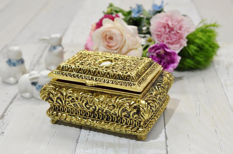 ジュエリーボックス スペイン製 真鍮 ブラス 宝石箱 ジュエリーケース アクセサリーボックス 収納 小物入れ