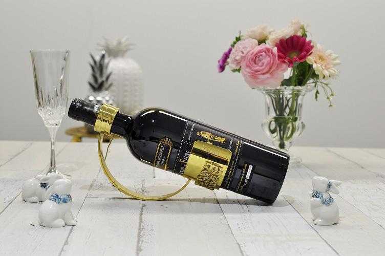 スペイン製 真鍮 ブラス ワインラック ボトルホルダー 小