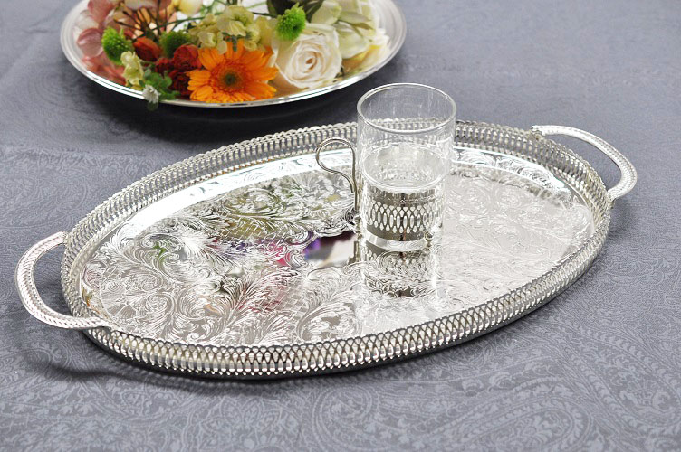 LITTLE SYNKOM   Rakuten Global Market Silver e-Bartley with handles tray silver tray British QUEEN ANNE table kitchen goods & LITTLE SYNKOM   Rakuten Global Market: Silver e-Bartley with handles ...