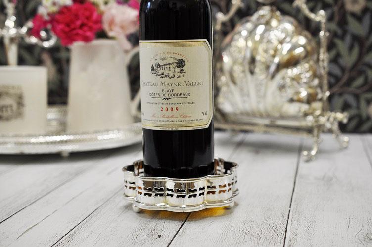 シルバー ビクトリアン ワインボトルコースター ボトルホルダー テーブルウェア カトラリー イギリス製