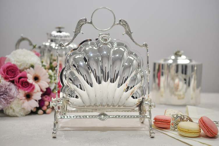 ビスケットウォーマー シルバー イタリア製 Royal Family ロイヤルファミリー テーブル キッチン雑貨 ティーパーティー ビスケット スウィーツ入れ
