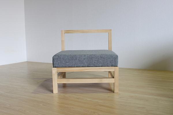 送料無料 ソファー 無垢材 木製 クッション 1人掛け 1人用 椅子 イス ソファ フロアソファー ナチュラル ウォールナット おしゃれ 北欧 モダン ミッドセンチュリー