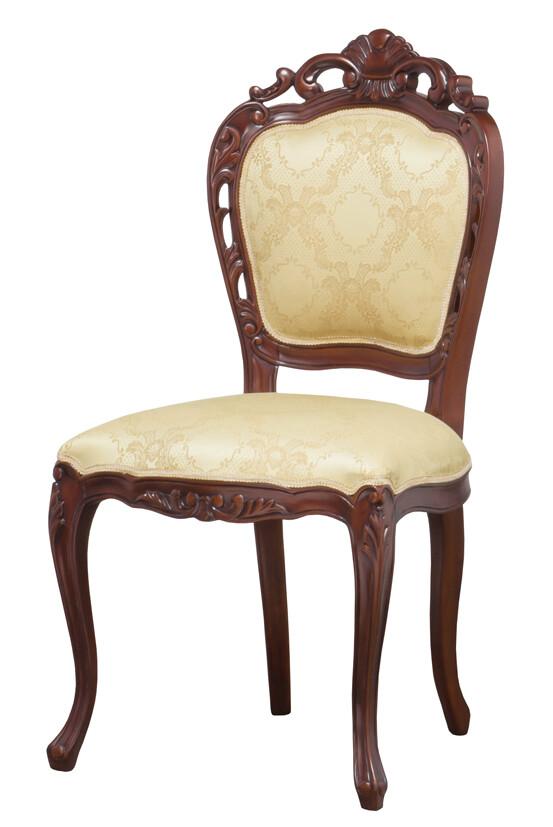 送料無料 ダイニングチェアー 肘なし アンティーク おしゃれ イス 椅子 いす チェア 食卓椅子 ブラウン フランシスカチェアー ダイニングチェア ラウンジチェアー クラシック エレガント 高級感 レトロ