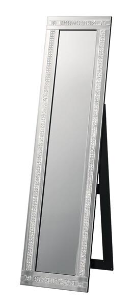 送料無料 スタンディングミラー 2ライン スタンドミラー 全身 アンティーク ゴージャス 鏡 姿見 スタンド おしゃれ 高級感