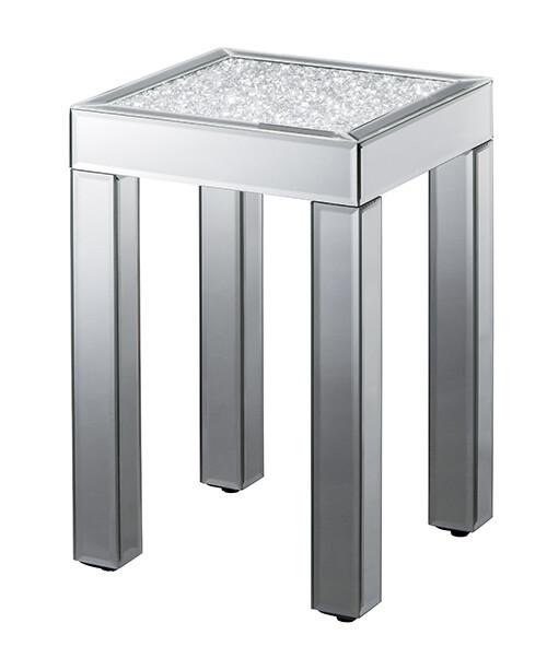 送料無料 ダイヤテーブル ロー サイドテーブル 花台 ミラーテーブル デスクサイドテーブル ベッドサイドテーブル ナイトテーブル 玄関 ゴージャス 店舗 ショップ カフェ おしゃれ