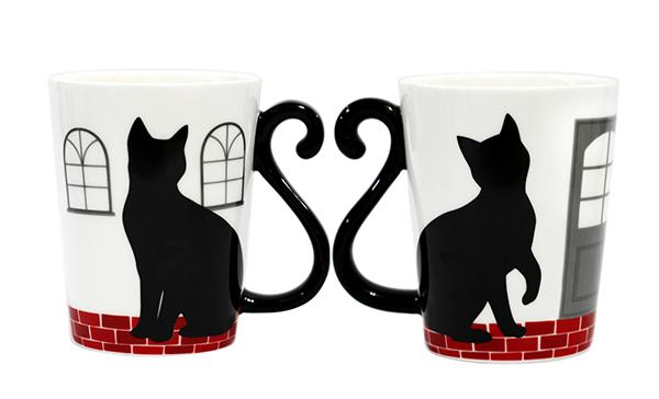 マグカップル ハウス 黒猫/ハウス 5点セット