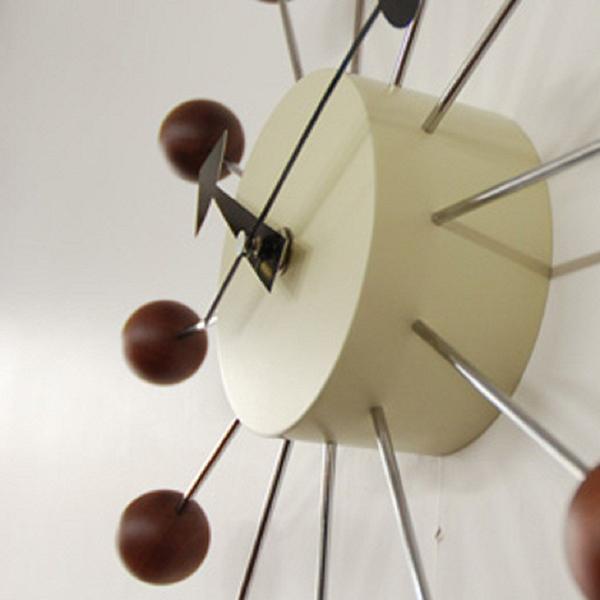 時計 壁掛け 掛け時計 ウォールクロック キッチュ キュート ジョージ・ネルソン クロック ボール・クロック ウォールナット デザイナーズ カフェ インテリア ミッドセンチュリー 北欧 モダン おしゃれ