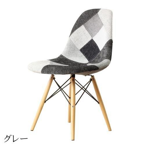 ダイニングチェア 1脚 食卓椅子 椅子 イス いす デザイナーズ イームズシェルサイドチェア DSW パッチワーク おしゃれ 北欧 モダン ミッドセンチュリー レトロ