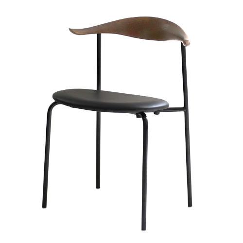 ダイニングチェア 1脚 食卓椅子 椅子 イス いす デザイナーズ イームズ ブルホーンチェア ブラックフレーム・クロームフレーム おしゃれ 北欧 モダン ミッドセンチュリー レトロ