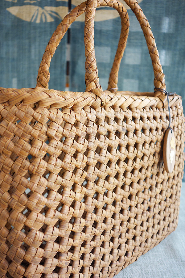 山葡萄 かごバッグ 石畳編 中 巾着付 バッグ おしゃれ 高級感 レディース 大容量RqjL354A
