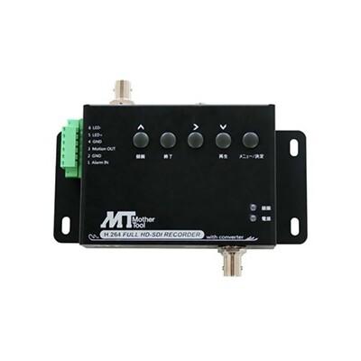 1チャンネルSDカードHD-SDIレコーダー DC12V HD-SDIカメラ専用 リモコン・ACアダプター付 MT-SDR1012