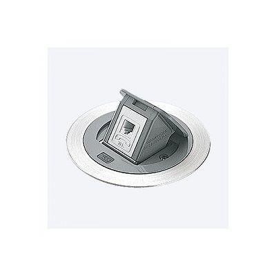 F型アップコン 丸型 電話用 モジュラジャック グレー DU2103HT
