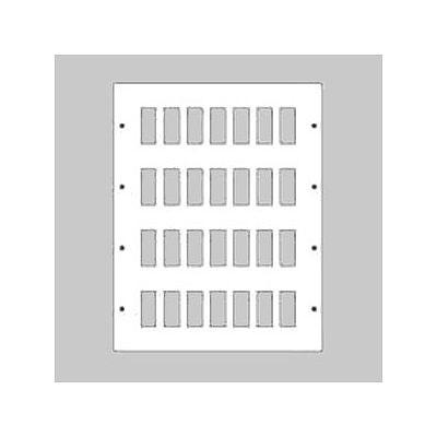新金属リモコンスイッチプレート 4段 7連型 112コ用 スイッチ取付金具付 WR3541121