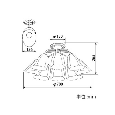 LEDランプ交換型シャンデリア 期間限定の激安セール ~14畳用 非調光 LED電球7.8W×8 直営ストア E26口金 電球色 CD-4332-L ランプ付