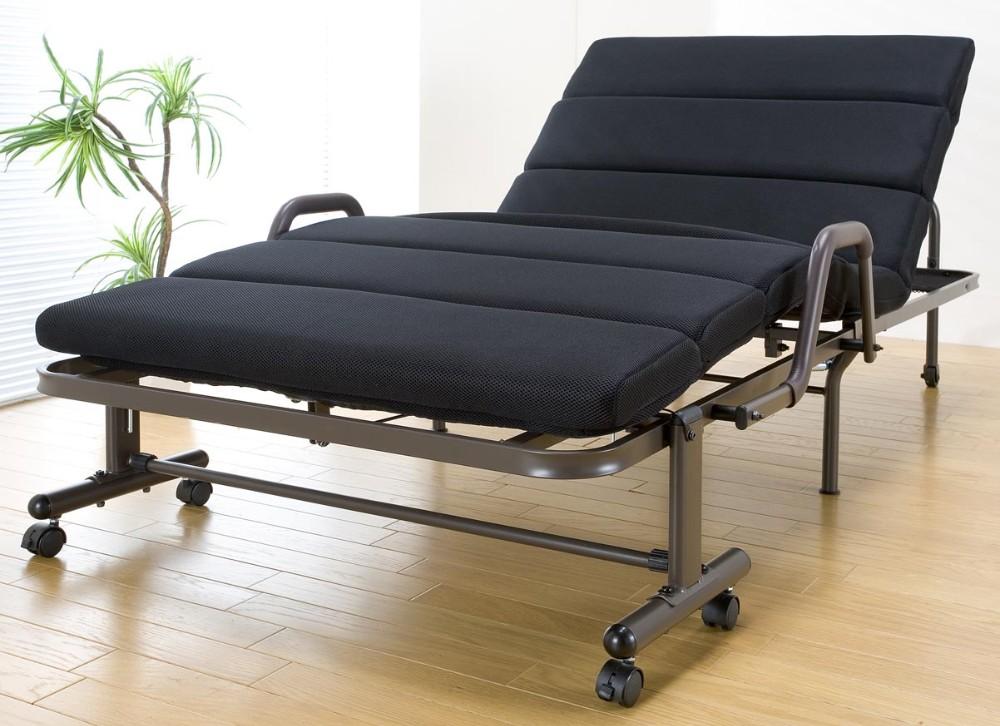 モコモコリクライニング折りたたみベッド シングルベッド 折りたたみ キャスター付き ベッド コンパクト 省スペース 簡易ベッド 折り畳み おしゃれ