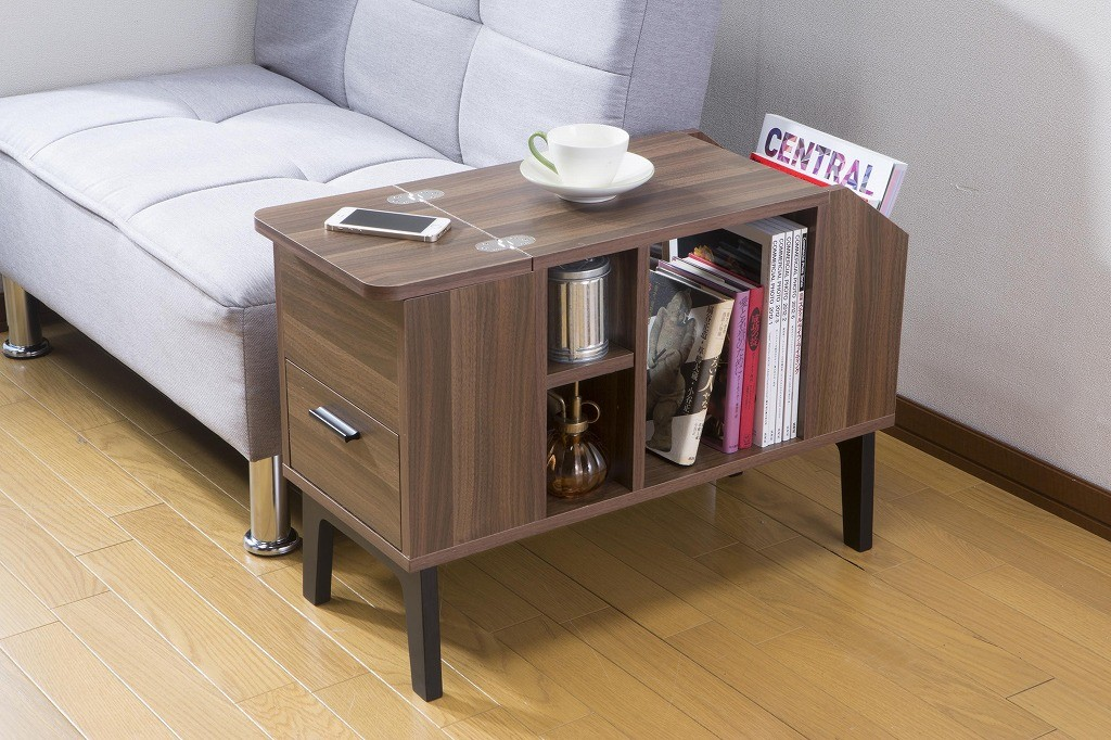 サイドテーブルチェスト ナイトテーブル 収納 ソファーサイドテーブル スリム 木製 本収納 ベッドサイドテーブル おしゃれ モダン かわいい 北欧