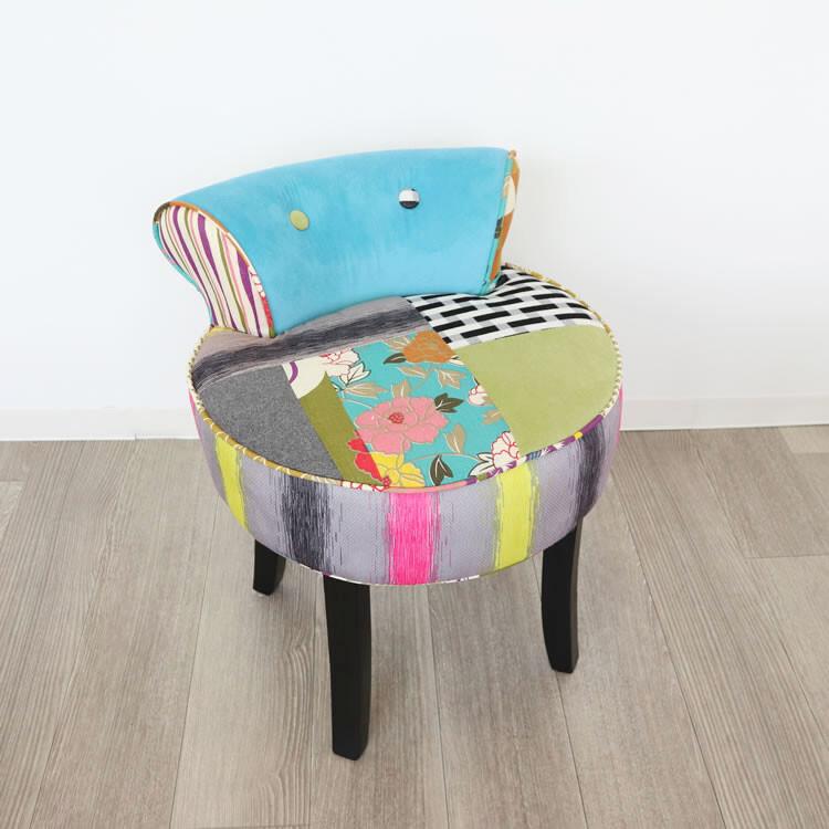 送料無料 カラフルチェアー スツール ライトブルー 椅子 チェアー スリム コンパクト 円型 丸型 一人掛けスツール 腰掛け いす 椅子 チェアー 玄関 キッチン リビング おしゃれ レトロ モダン