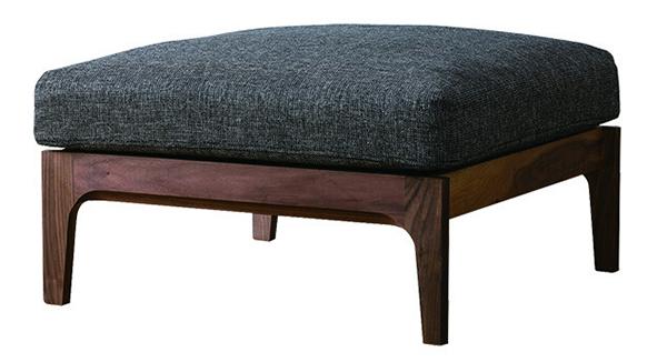 送料無料 スツールソファ ダークグレイ/ウォルナット 木製 腰掛け いす 椅子 オットマン ローチェアー 玄関 寝室 リビング キッチン コンパクト おしゃれ モダン 北欧 ミッドセンチュリー