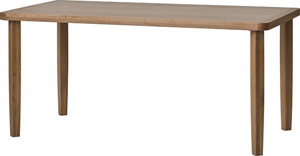 送料無料 ダイニングテーブル 単品 幅150cm ナチュラルブラウン ホワイトオーク無垢材 4人掛け 4人用 木製 食卓テーブル 机 作業台 カフェ 食事 北欧 ミッドセンチュリー 和モダン おしゃれ 西海岸 インダストリアル 高級感