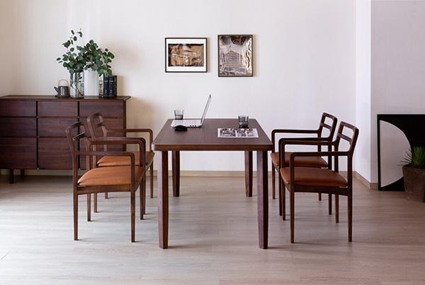 送料無料 ダイニングチェア 単品 ウォルナット無垢材 食卓椅子 イス 椅子 チェア ミディアムブラウン×ライトブラウン ダイニングチェアー 食卓チェア 完成品 おしゃれ デザイン モダン 北欧 スタイリッシュ 高級感