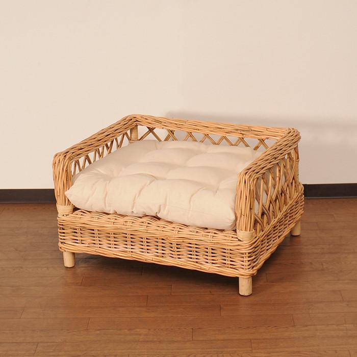 ラタン家具 ペット用ベッド ナチュラル 天然ラタン使用 ペットベッド ベッド ペット 犬 イヌ いぬ かわいい:家具のショウエイ