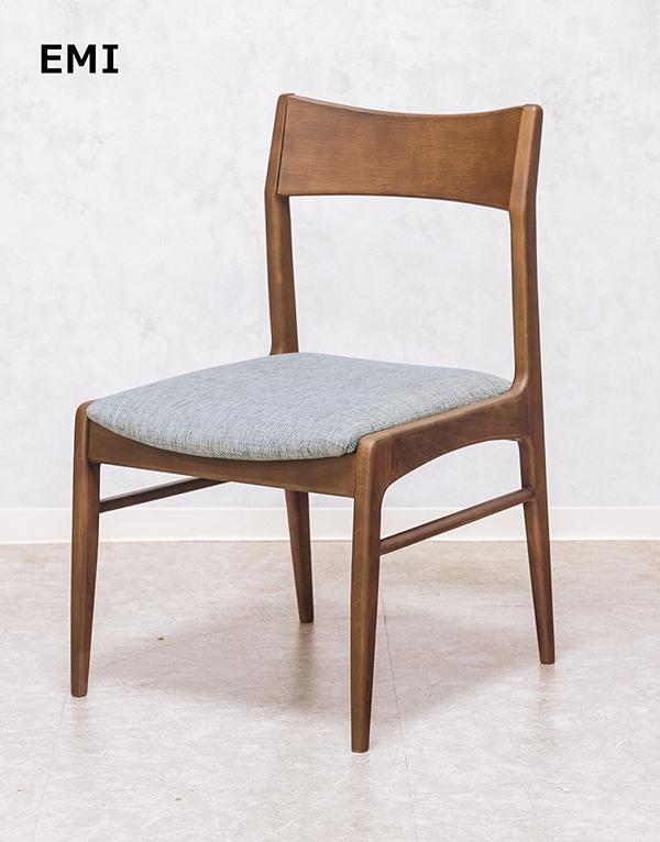 送料無料 オークダイニング チェアー BR ブラウン チェアー 食卓椅子 イス 椅子 リビング 一人掛け 1人用 木製 ファブリック おしゃれ 北欧 モダン