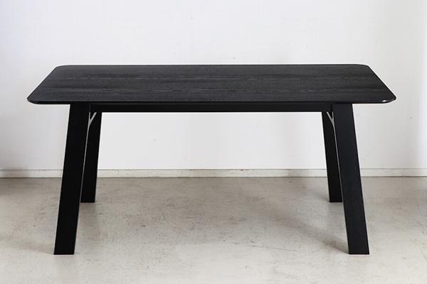 ダイニングテーブル単品 6人掛け 6人用 机 食卓テーブル 幅160cm 黒木目 ブラック 作業台 リビング 北欧 おしゃれ デザイン 北欧 モダン ミッドセンチュリー 高級感