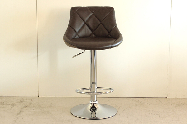 バーチェアー ブラウン 合成皮革 カウンターチェアー ハイチェアー 疲れにくい 椅子 イス いす 食卓チェアー 背もたれ付き カフェ バー 北欧 西海岸 ミッドセンチュリー レトロ モダン おしゃれ