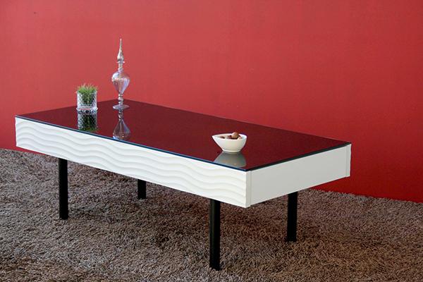 国産 リビングテーブル シュール ガラステーブル 収納 ローテーブル カフェ センターテーブル おしゃれ デザイン 引き出し 作業台 机 日本製 北欧 モダン シンプル 高級感