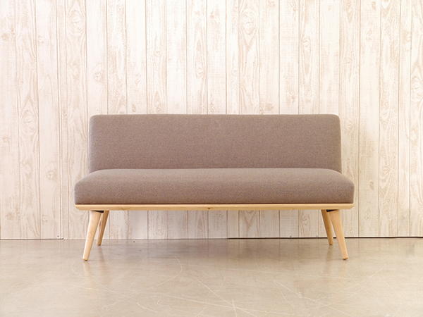 2Pソファ ブラウン コンパクト ソファー 2人掛け 2人用 ダイニングソファー リビング ファブリック プリ イス いす 椅子 おしゃれ 北欧 モダン シンプル