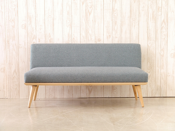 2Pソファ ブルー コンパクト ソファー 2人掛け 2人用 ダイニングソファー リビング ファブリック プリ イス いす 椅子 おしゃれ 北欧 モダン シンプル