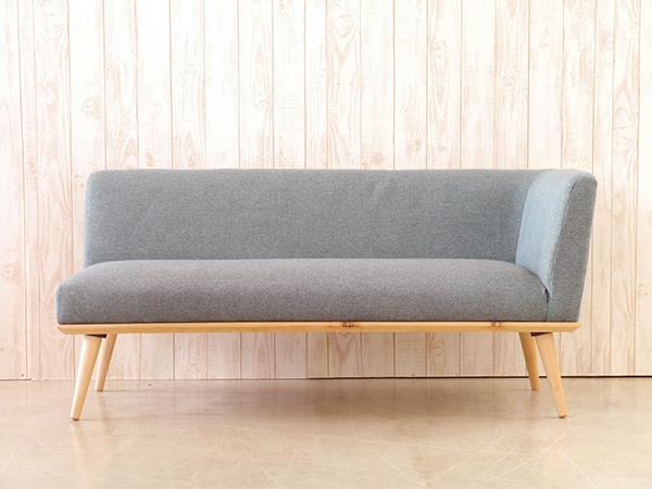 カウチ L ブルー コンパクト ソファー 2人掛け 2人用 2Pソファ ダイニングソファー リビング ファブリック プリ イス いす 椅子 おしゃれ 北欧 モダン シンプル