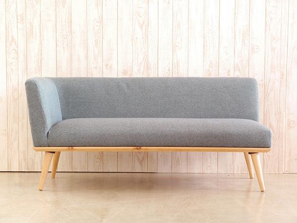 カウチ R ブルー コンパクト ソファー 2人掛け 2人用 2Pソファ ダイニングソファー リビング ファブリック プリ イス いす 椅子 おしゃれ 北欧 モダン シンプル