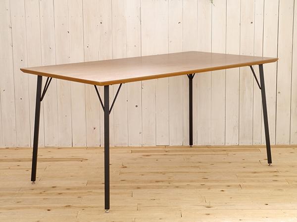テーブル 単品 ダイニングテーブル 幅150cm スチール 机 食卓テーブル 6人掛け 6人用 ウォールナット 作業台 カフェ 北欧 西海岸 ナチュラル ブルックリン 男前インテリア おしゃれ 高級感 モント150