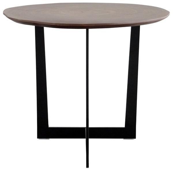 サイドテーブル ナイトテーブル 高級感 重厚感 ウォールナット スチール 寝室 ベッドサイド ソファーサイドテーブル 花台 プランター台 ボル リビング おしゃれ モダン 北欧 シンプル